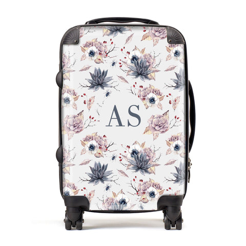 Personalised Halloween Floral Suitcase