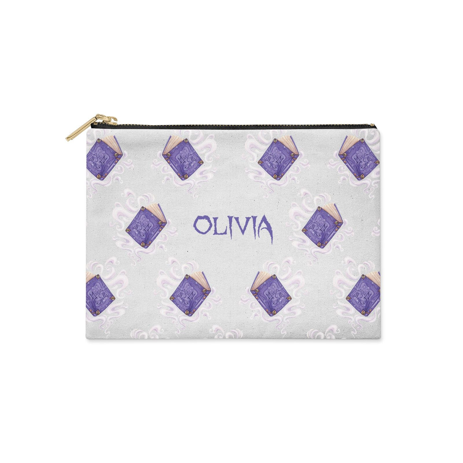 Personalised Halloween Magic Spell Clutch Bag Zipper Pouch