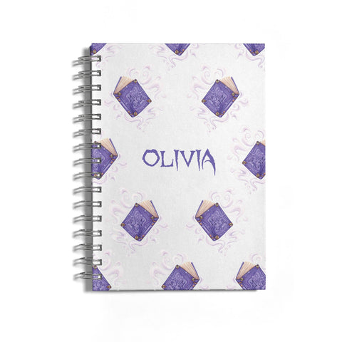 Personalised Halloween Magic Spell Notebook