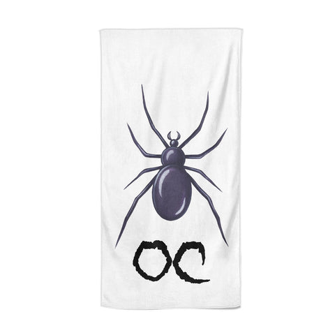 Personalised Halloween Spider Beach Towel