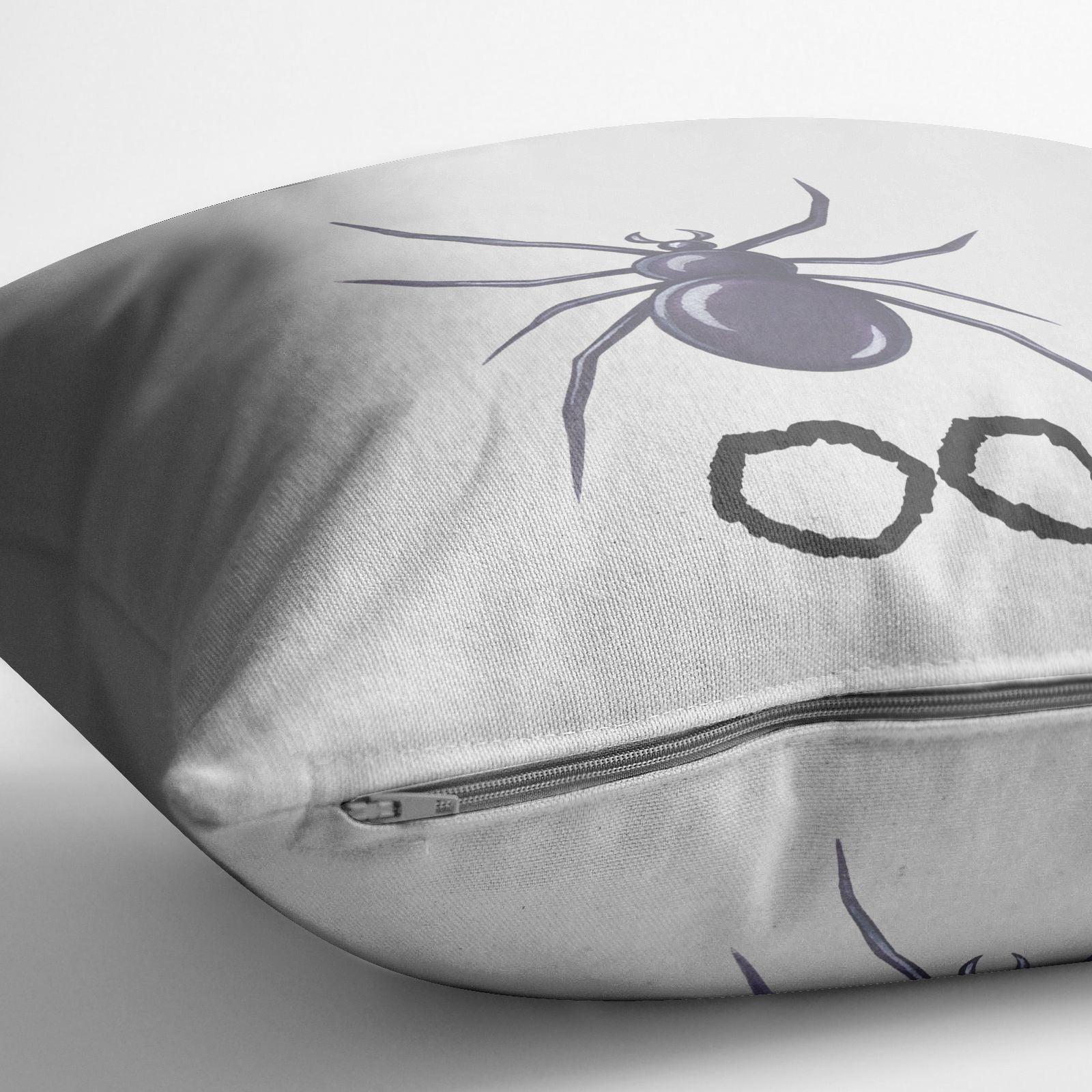 Personalised Halloween Spider Cotton Cushion Alternative Image
