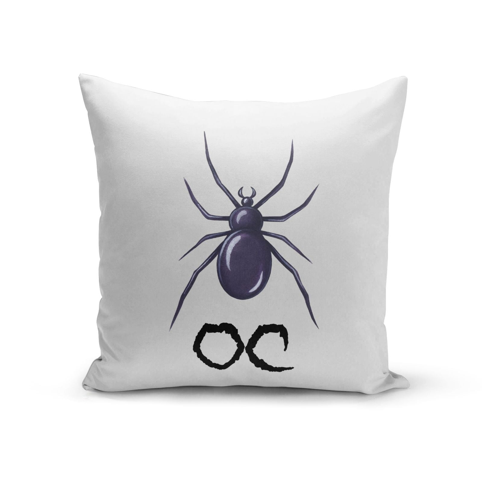 Personalised Halloween Spider Cotton Cushion
