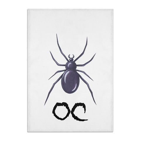 Personalised Halloween Spider Tea Towel