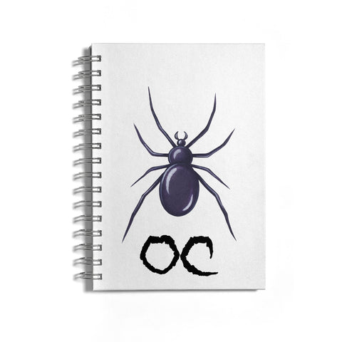 Personalised Halloween Spider Notebook