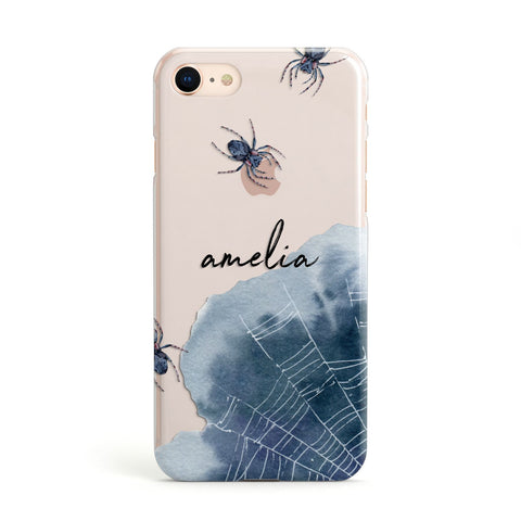 Personalised Halloween Spider Web Apple iPhone Case