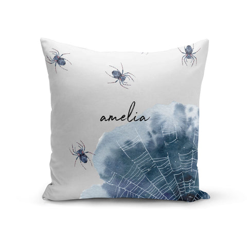 Personalised Halloween Spider Web Cushion