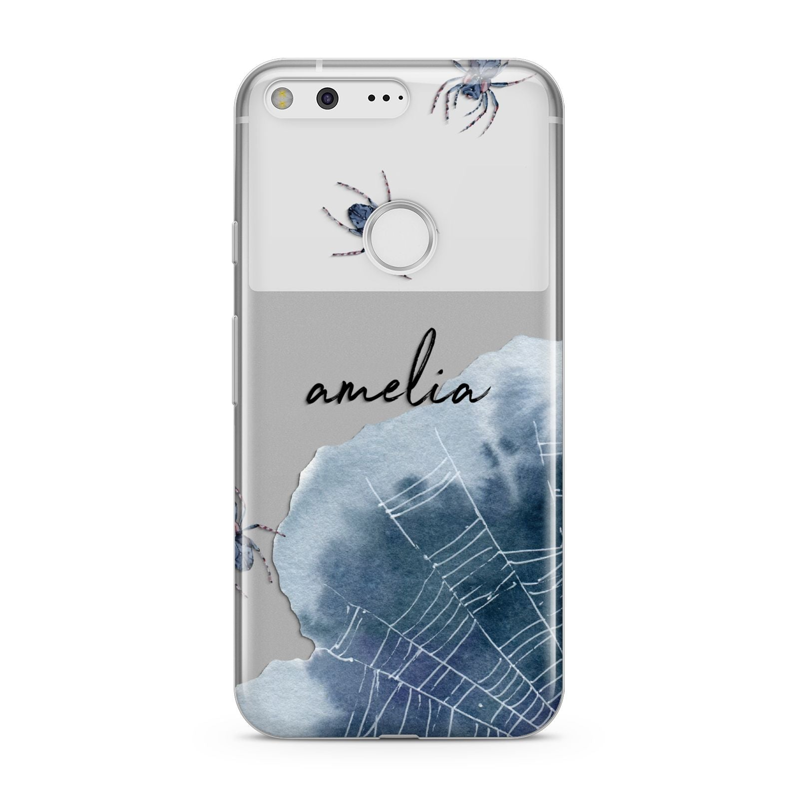 Personalised Halloween Spider Web Google Pixel Case