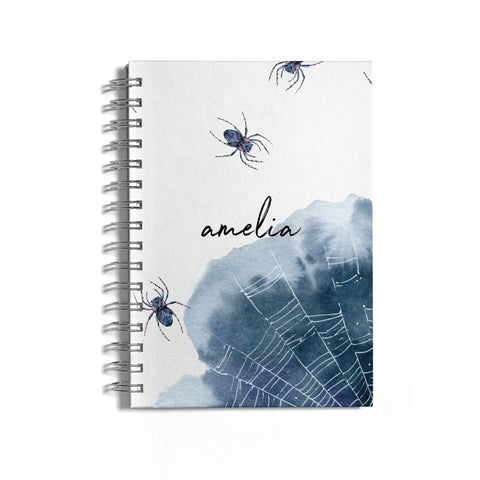 Personalised Halloween Spider Web Notebook