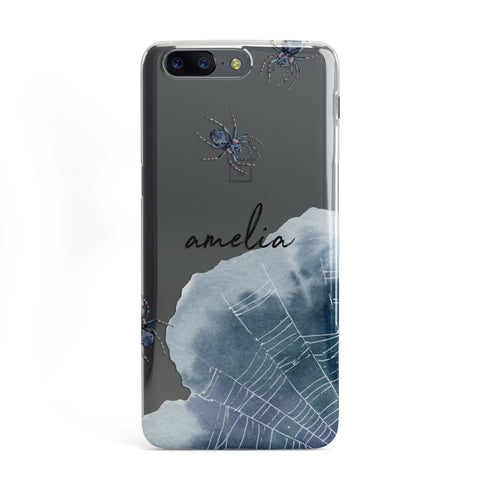 Personalised Halloween Spider Web OnePlus Case