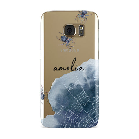 Personalised Halloween Spider Web Samsung Galaxy Case