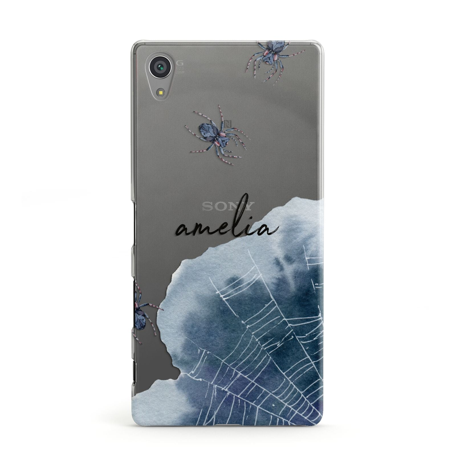 huge selection of 7c1be 474b9 Personalised Halloween Spider Web Sony Case