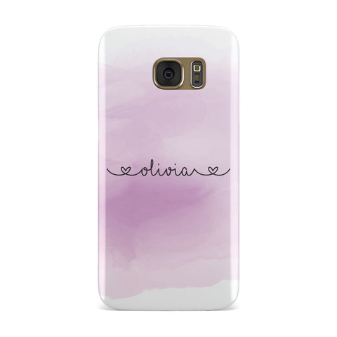 Personalised Handwritten Name & Hearts Samsung Galaxy Case