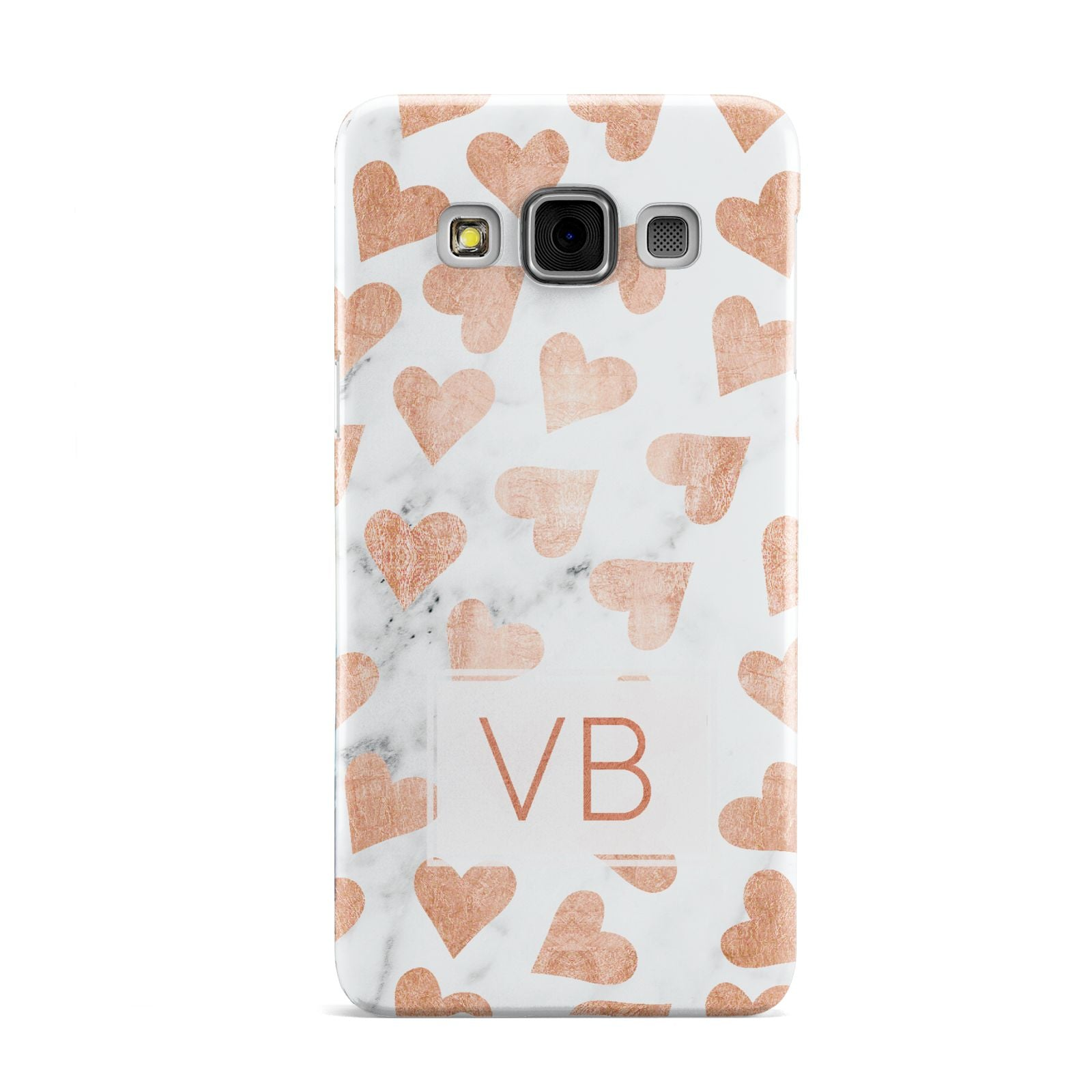 Personalised Heart Initialled Marble Samsung Galaxy A3 Case