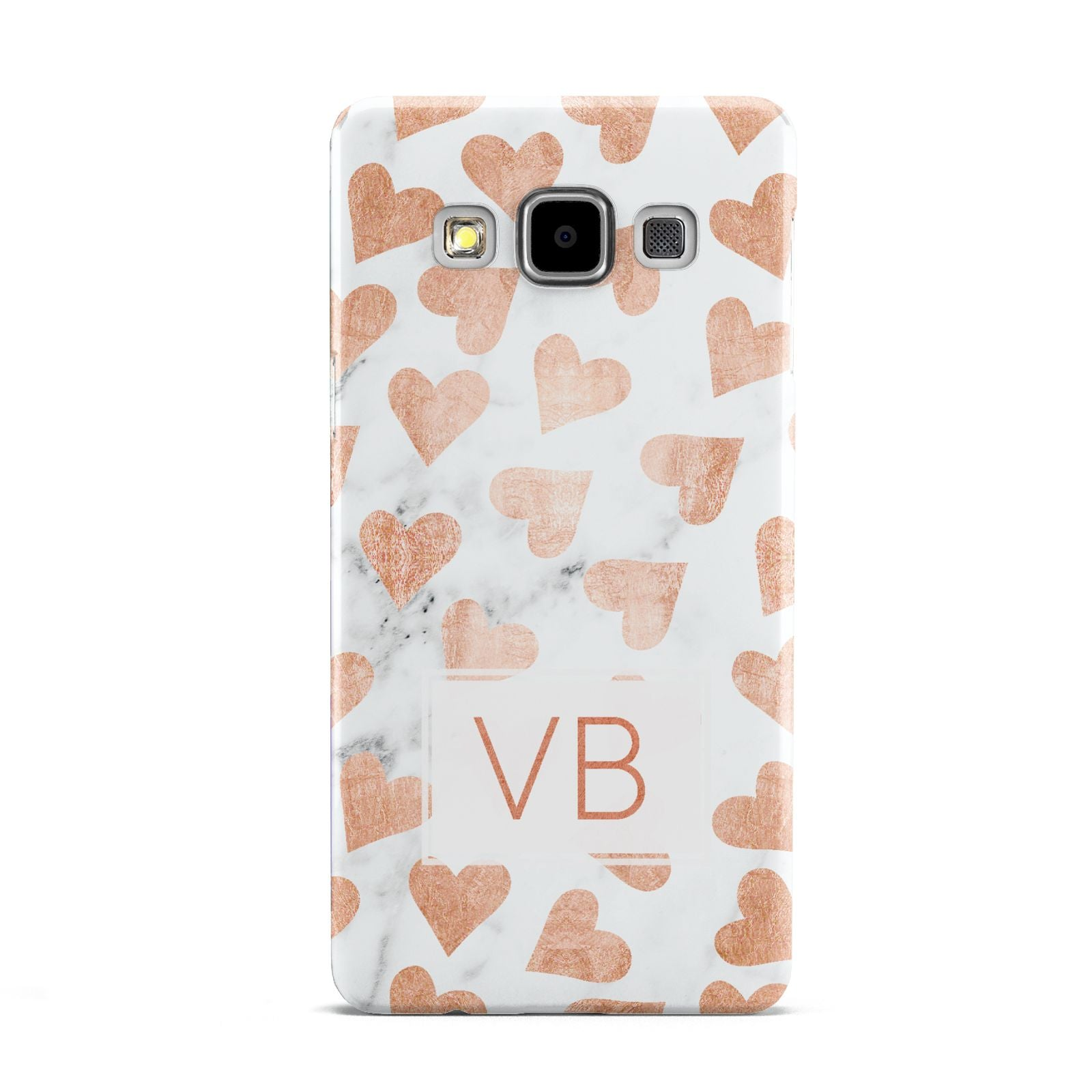 Personalised Heart Initialled Marble Samsung Galaxy A5 Case