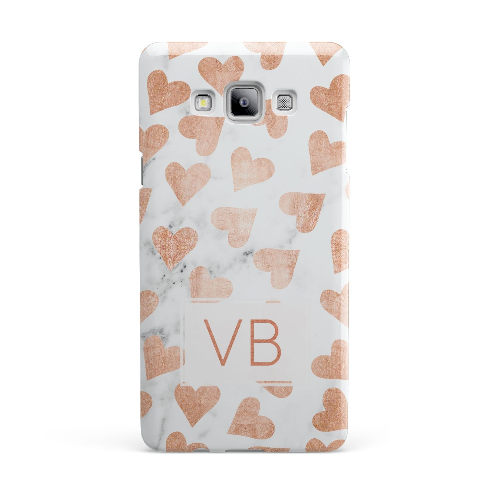 Personalised Heart Initialled Marble Samsung Galaxy A7 2015 Case