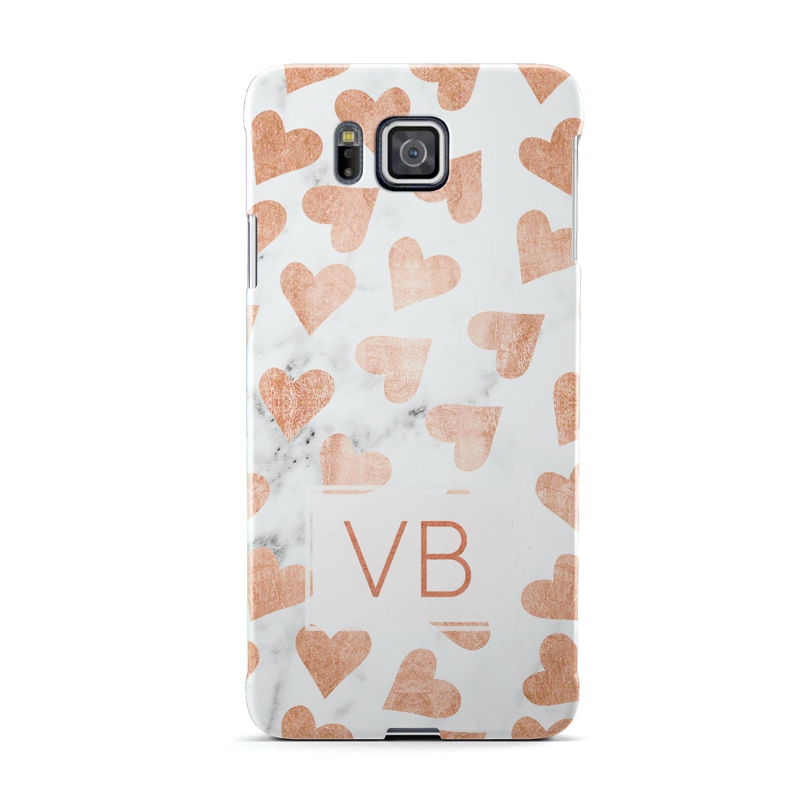 Personalised Heart Initialled Marble Samsung Galaxy Alpha Case