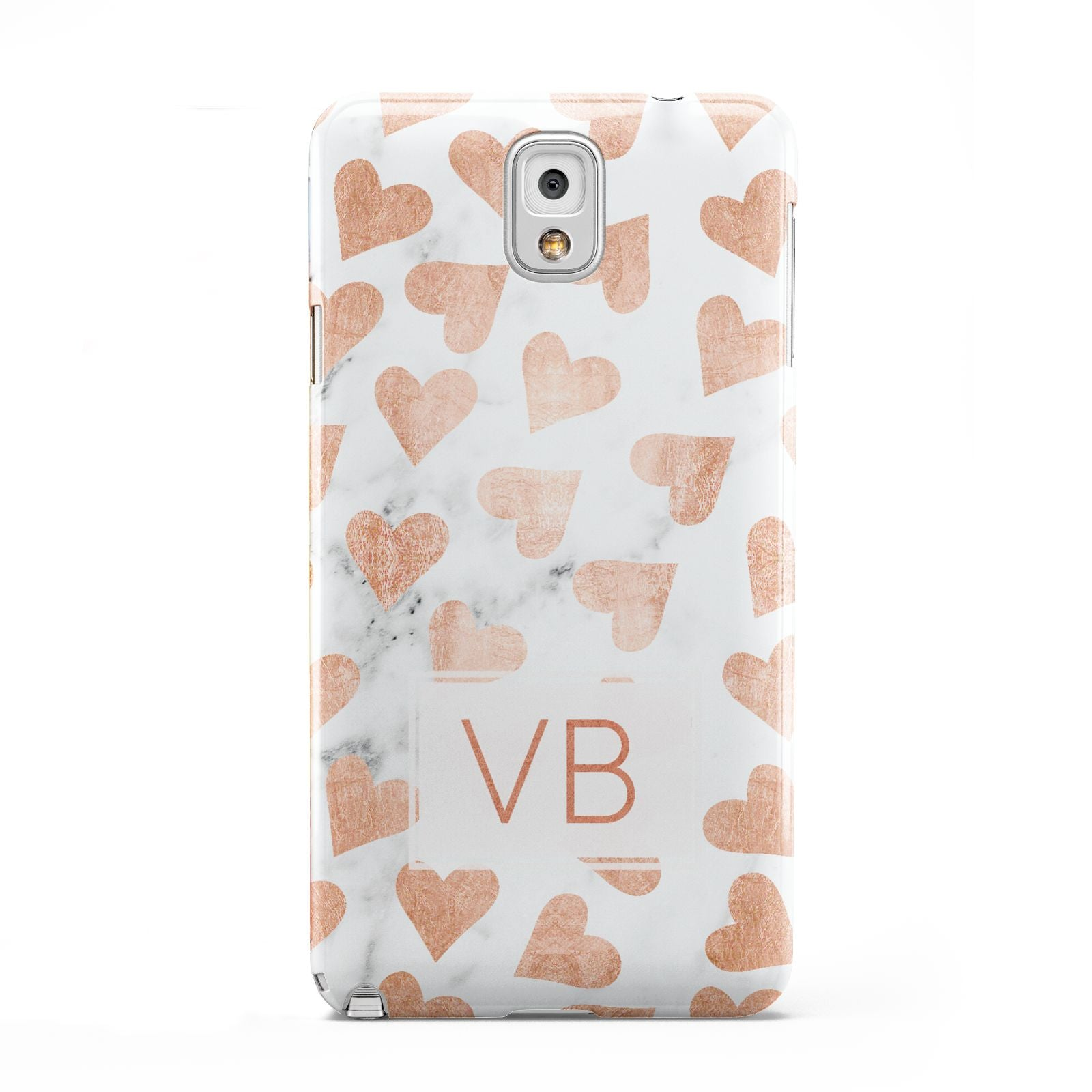 Personalised Heart Initialled Marble Samsung Galaxy Note 3 Case