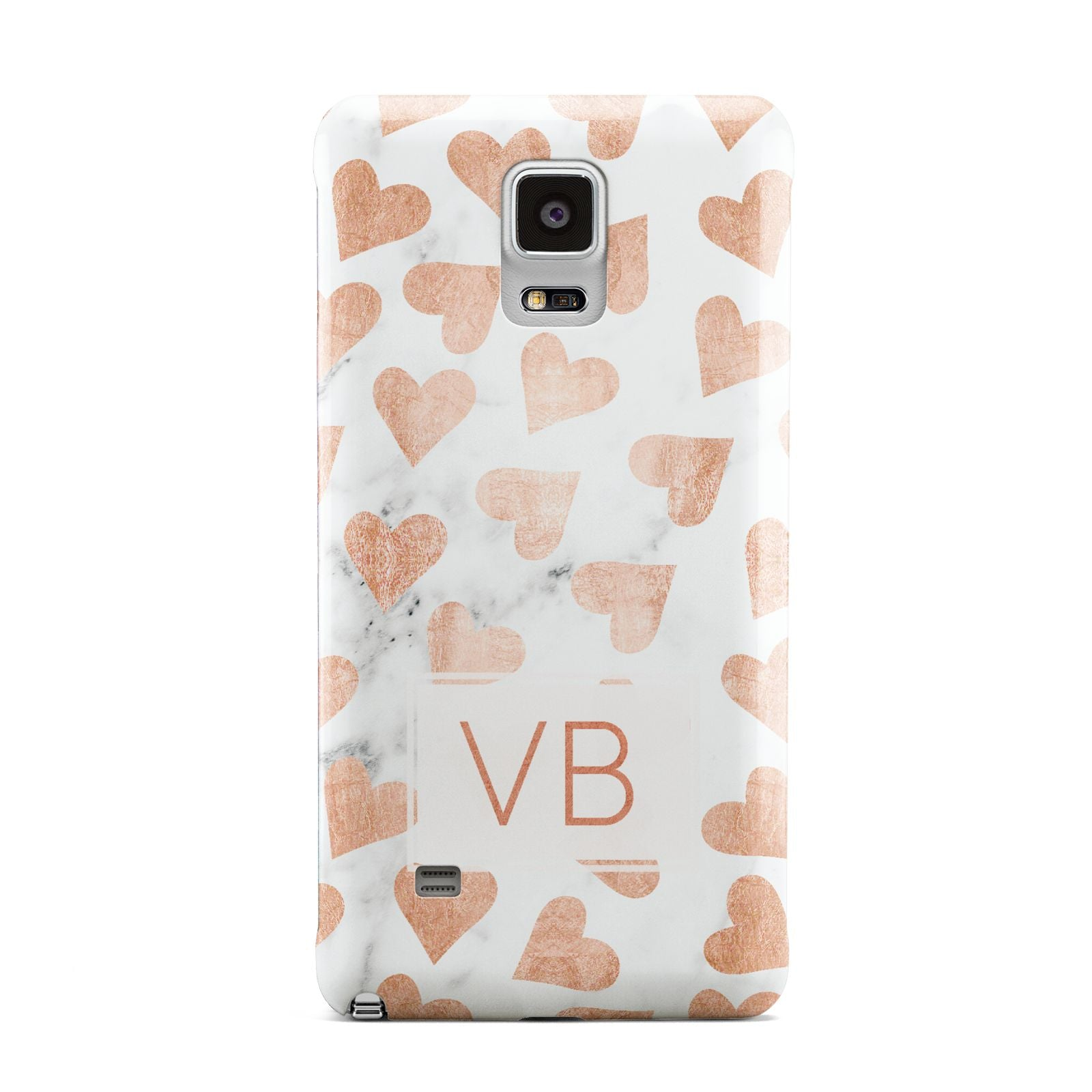 Personalised Heart Initialled Marble Samsung Galaxy Note 4 Case
