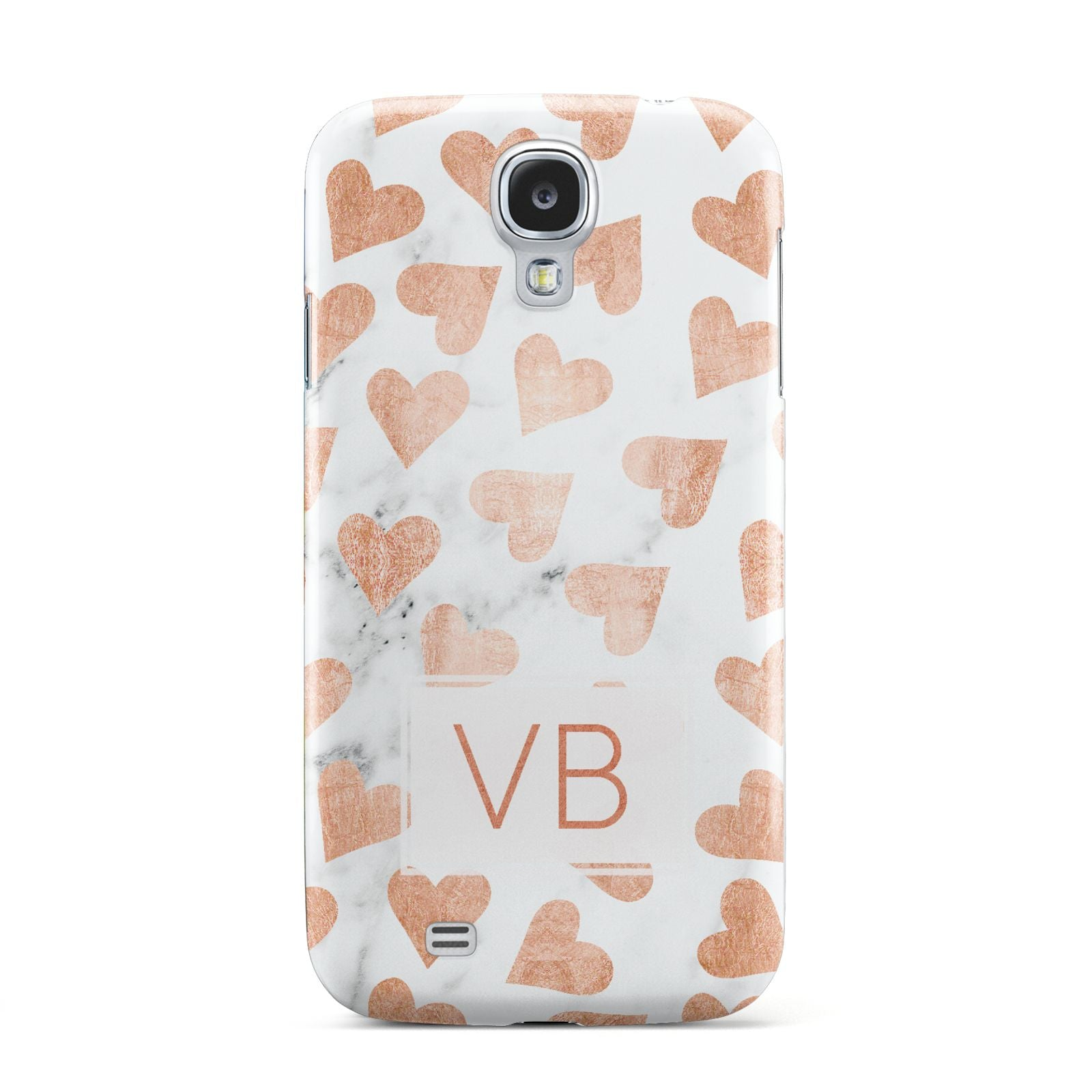 Personalised Heart Initialled Marble Samsung Galaxy S4 Case