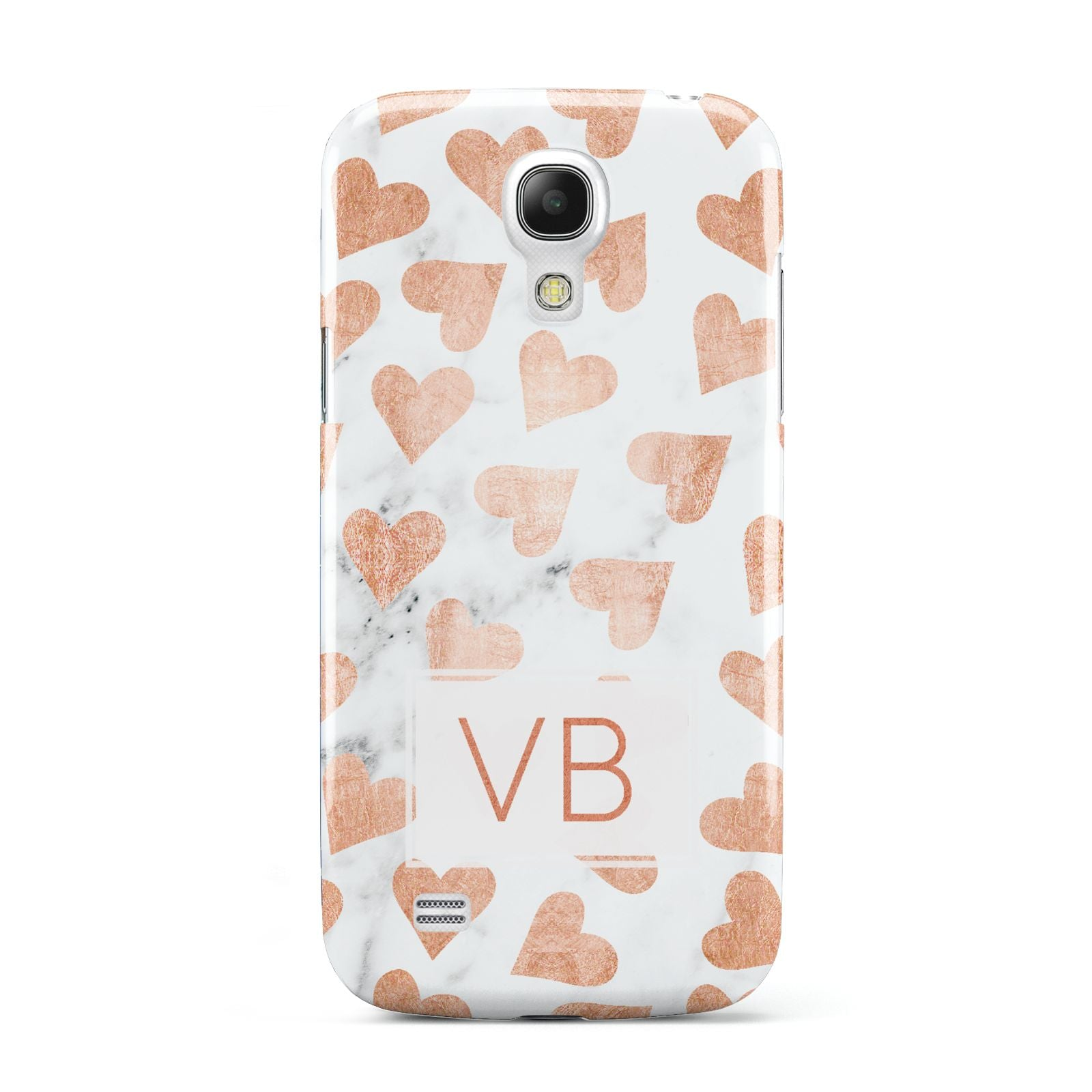Personalised Heart Initialled Marble Samsung Galaxy S4 Mini Case