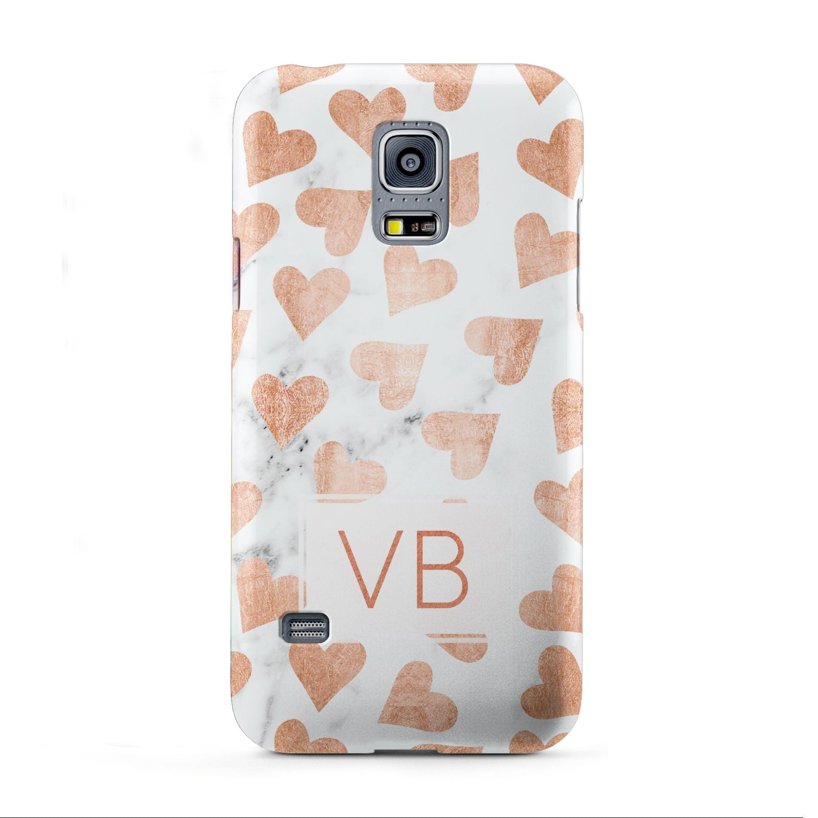 Personalised Heart Initialled Marble Samsung Galaxy S5 Mini Case