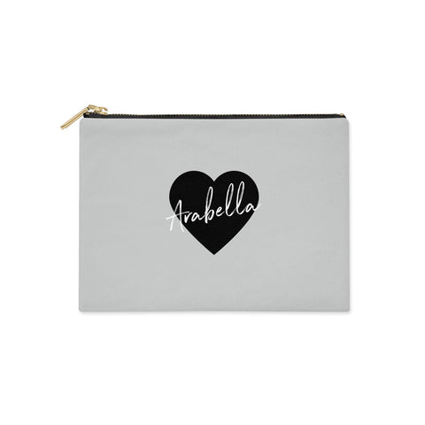 Personalised Heart Valentines Clutch Bag