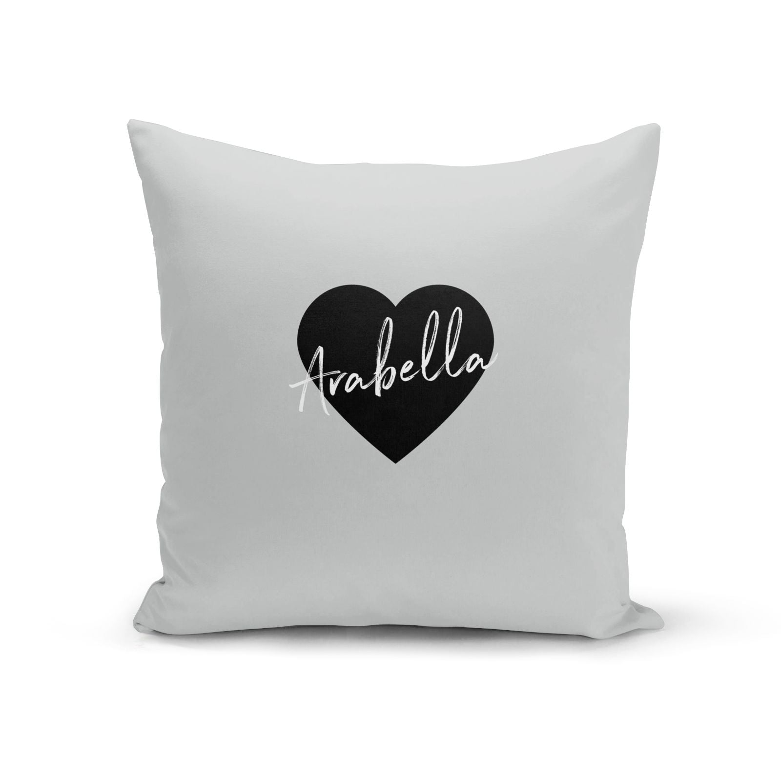 Personalised Heart Valentines Cotton Cushion