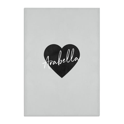 Personalised Heart Valentines Tea Towel