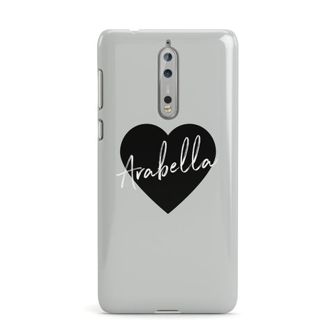 Personalised Heart Valentines Nokia Case