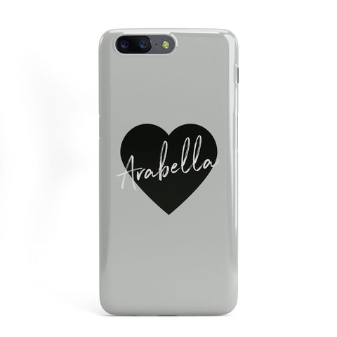 Personalised Heart Valentines OnePlus Case