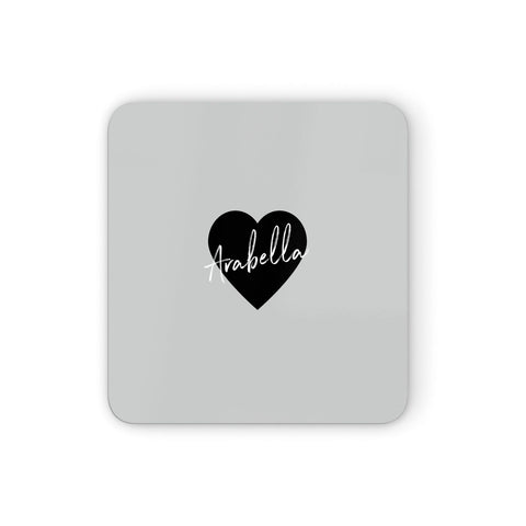 Personalised Heart Valentines Coasters set of 4