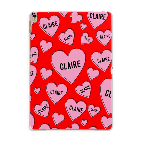 Personalised Hearts iPad Case
