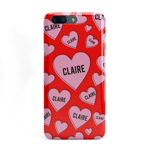 Personalised Hearts OnePlus Case