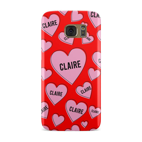 Personalised Hearts Samsung Galaxy Case