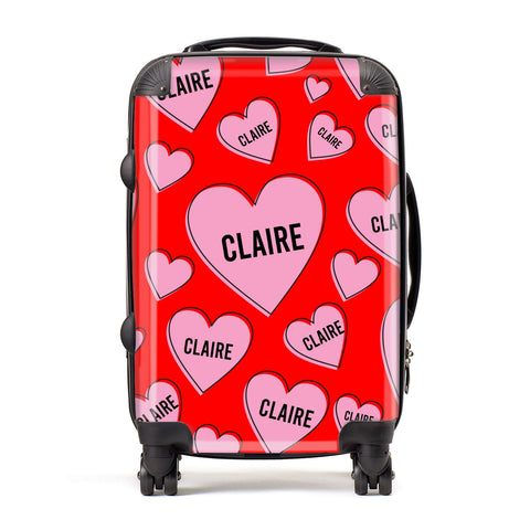 Personalised Hearts Suitcase
