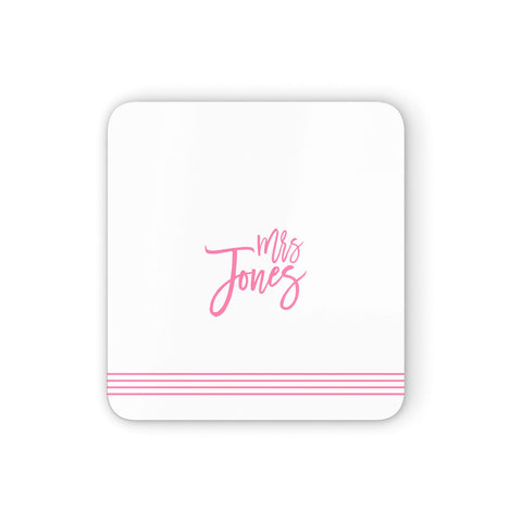 Personalised Hers Coasters set of 4