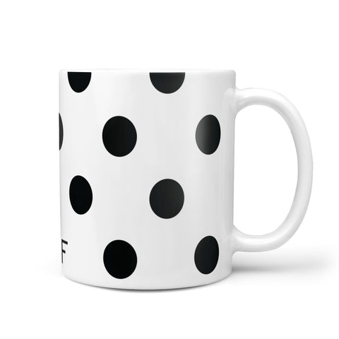 Personalised Initial Black Dots Mug