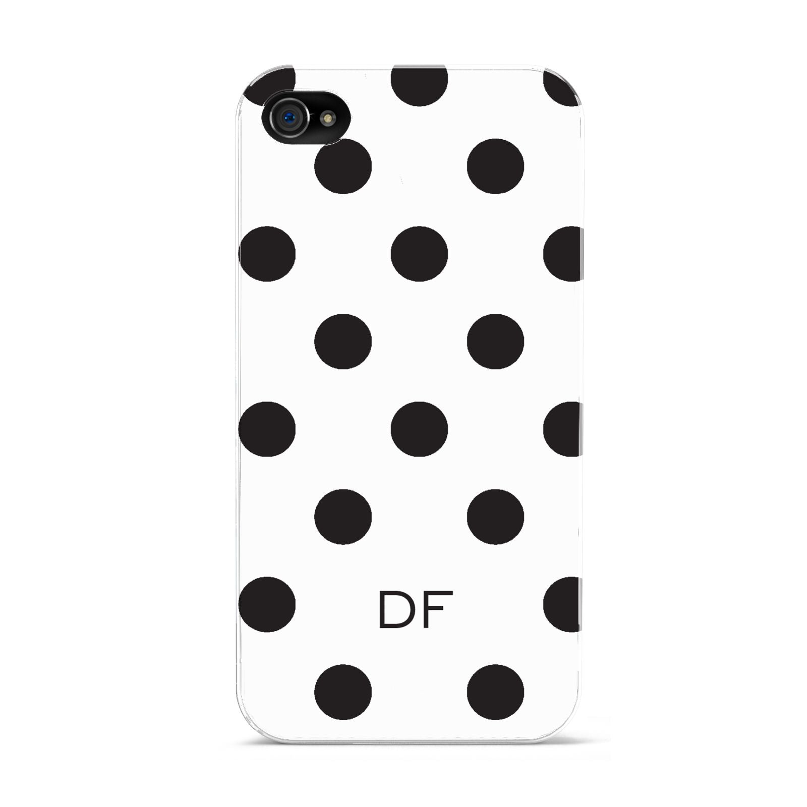 Personalised Initial Black Dots Apple iPhone 4s Case