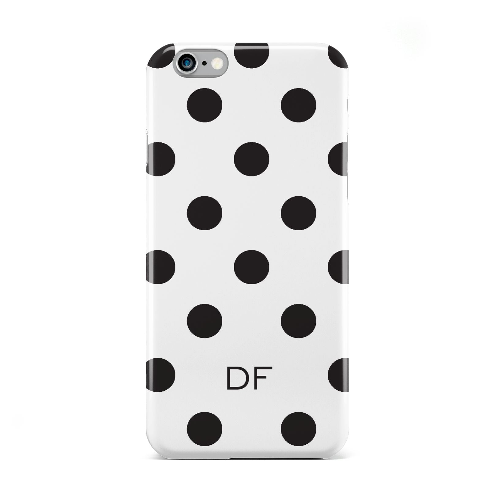 Personalised Initial Black Dots Apple iPhone 6 Case