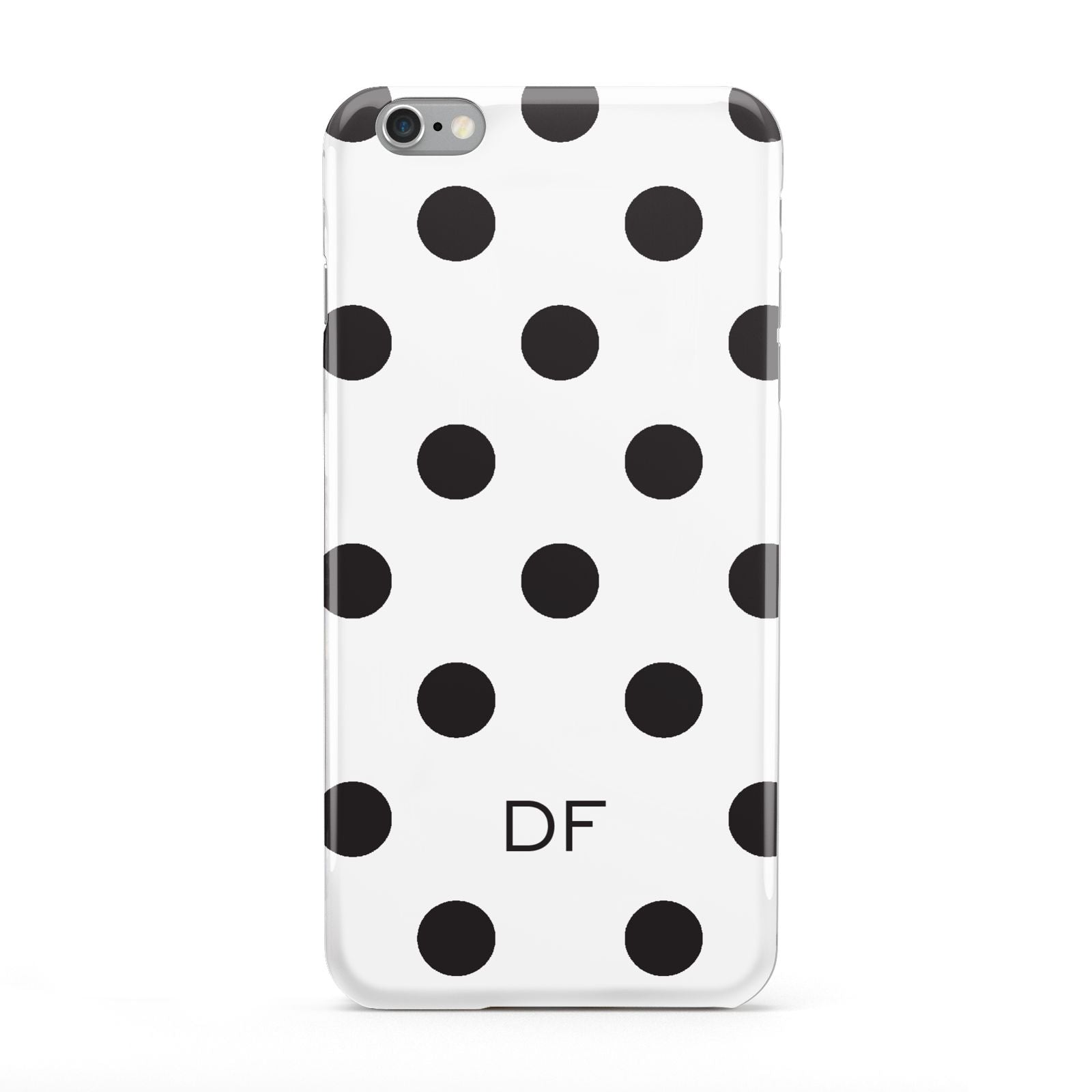 Personalised Initial Black Dots Apple iPhone 6 Plus Case
