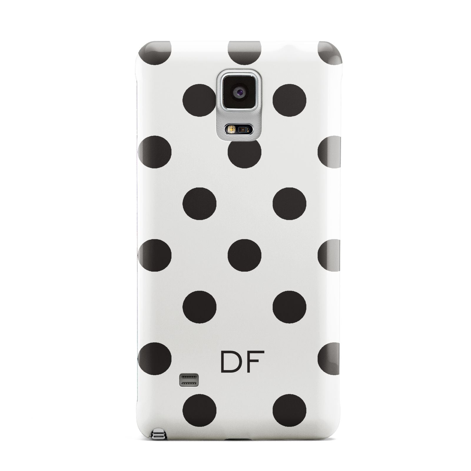 Personalised Initial Black Dots Samsung Galaxy Note 4 Case