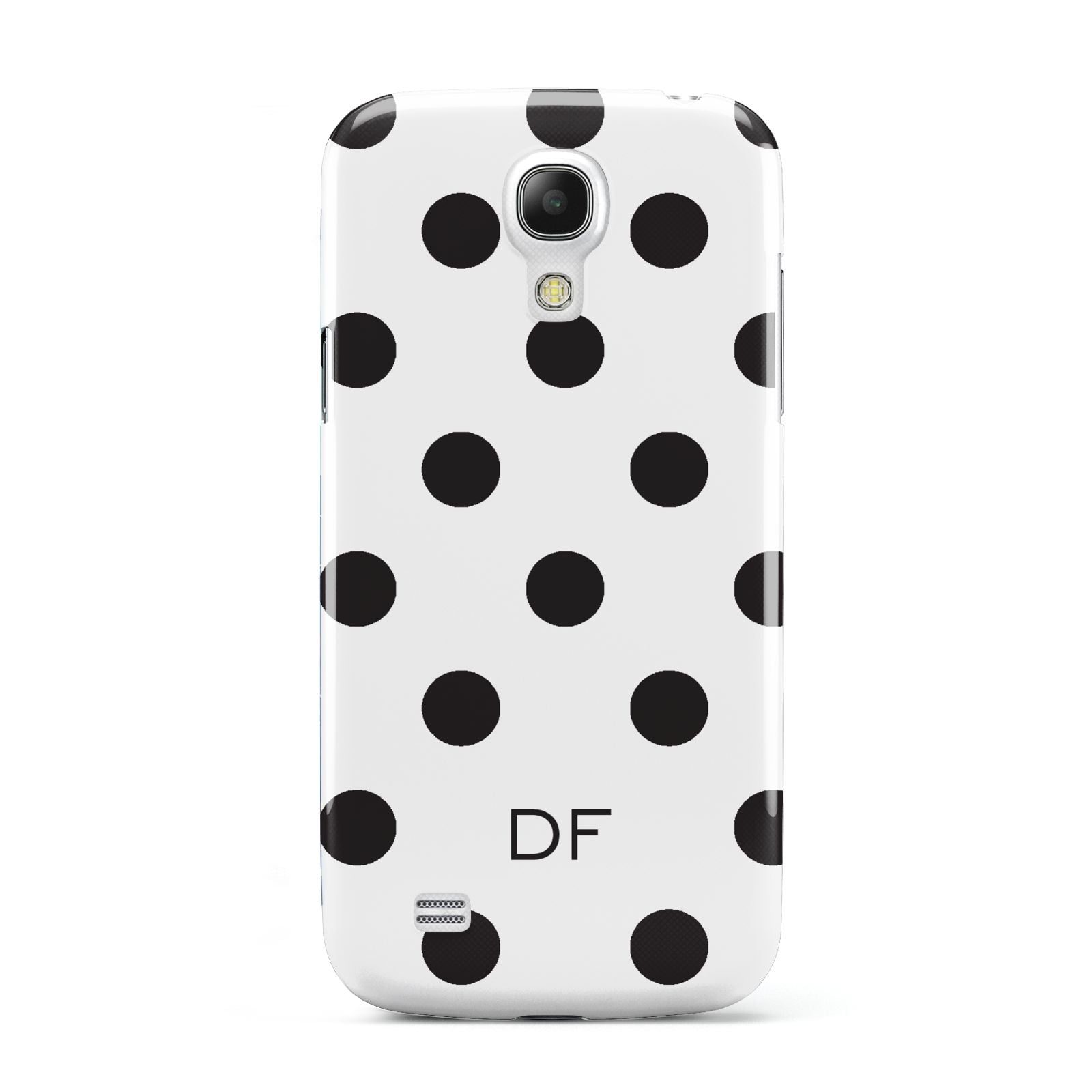 Personalised Initial Black Dots Samsung Galaxy S4 Mini Case