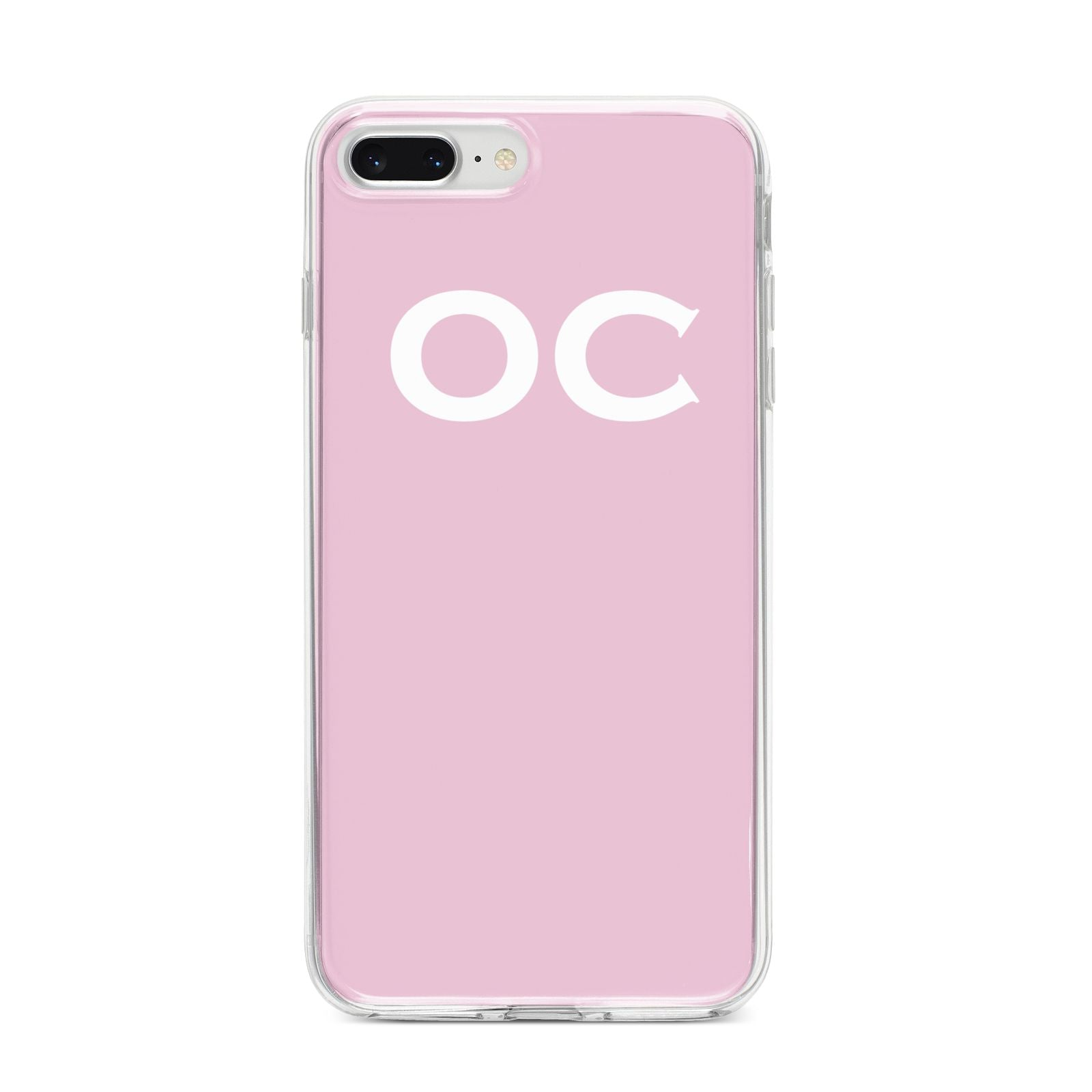 Personalised Initials 2 iPhone 8 Plus Bumper Case on Silver iPhone