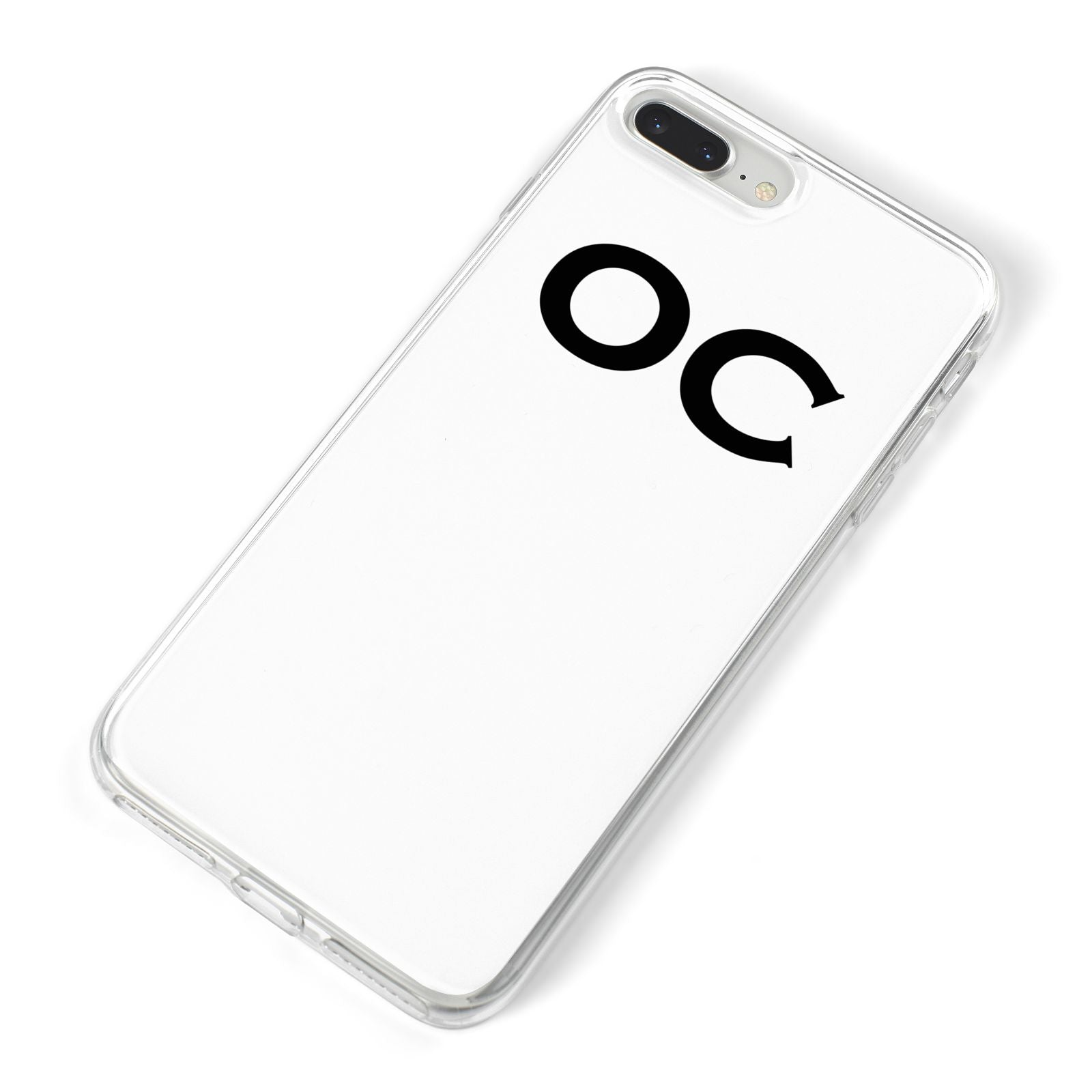 Personalised Initials 3 iPhone 8 Plus Bumper Case on Silver iPhone Alternative Image