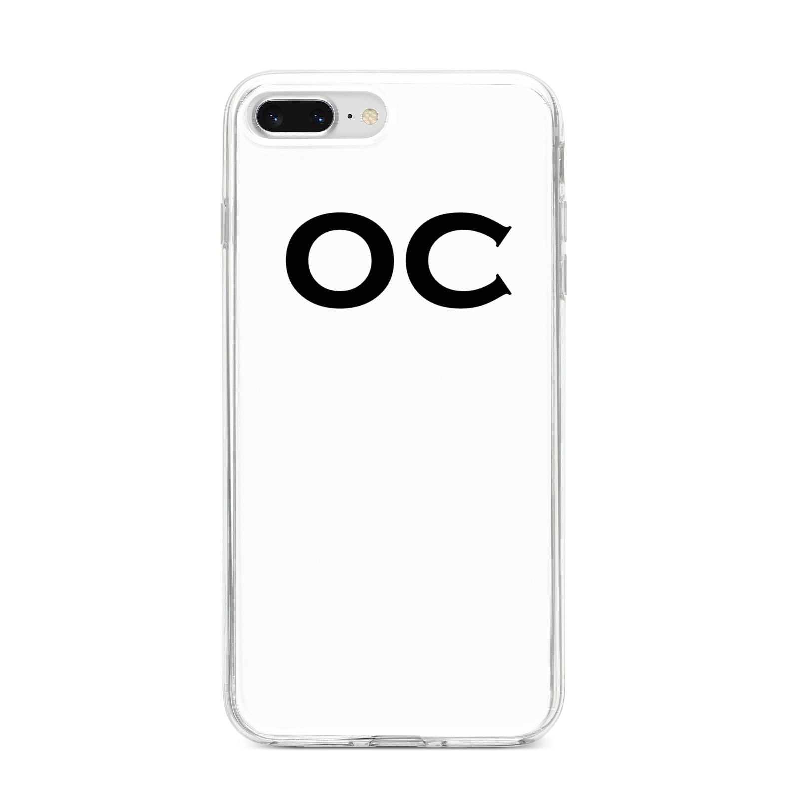Personalised Initials 3 iPhone 8 Plus Bumper Case on Silver iPhone