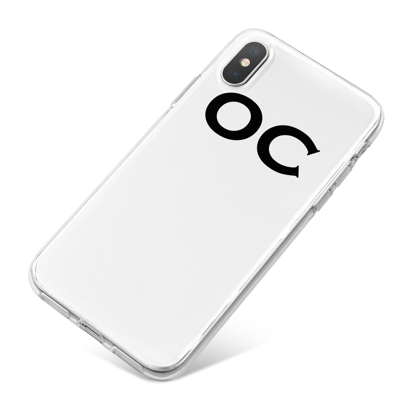 Personalised Initials 3 iPhone X Bumper Case on Silver iPhone
