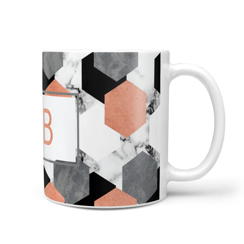 Personalised Initials Copper Marble Mug