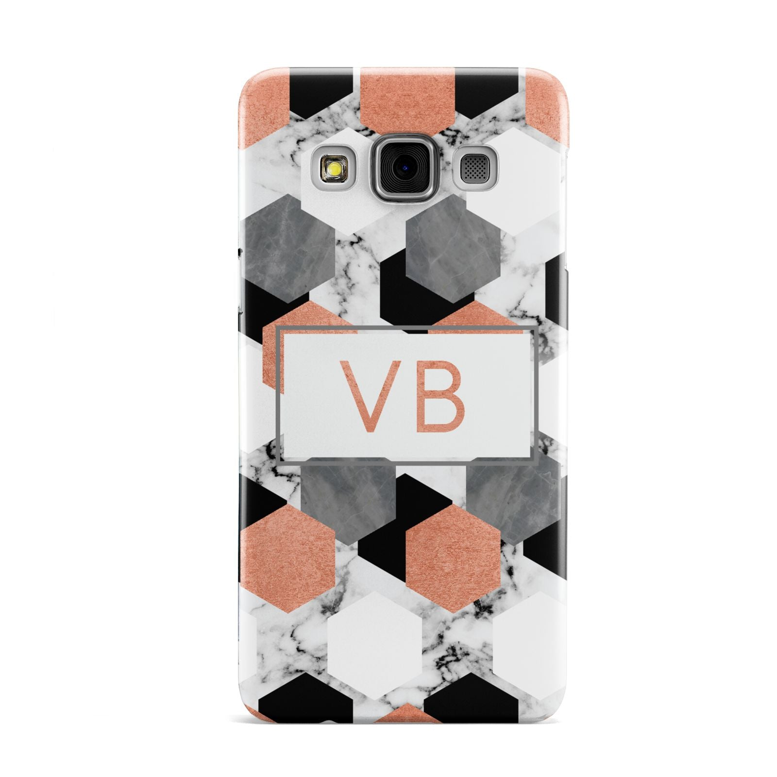 Personalised Initials Copper Marble Samsung Galaxy A3 Case