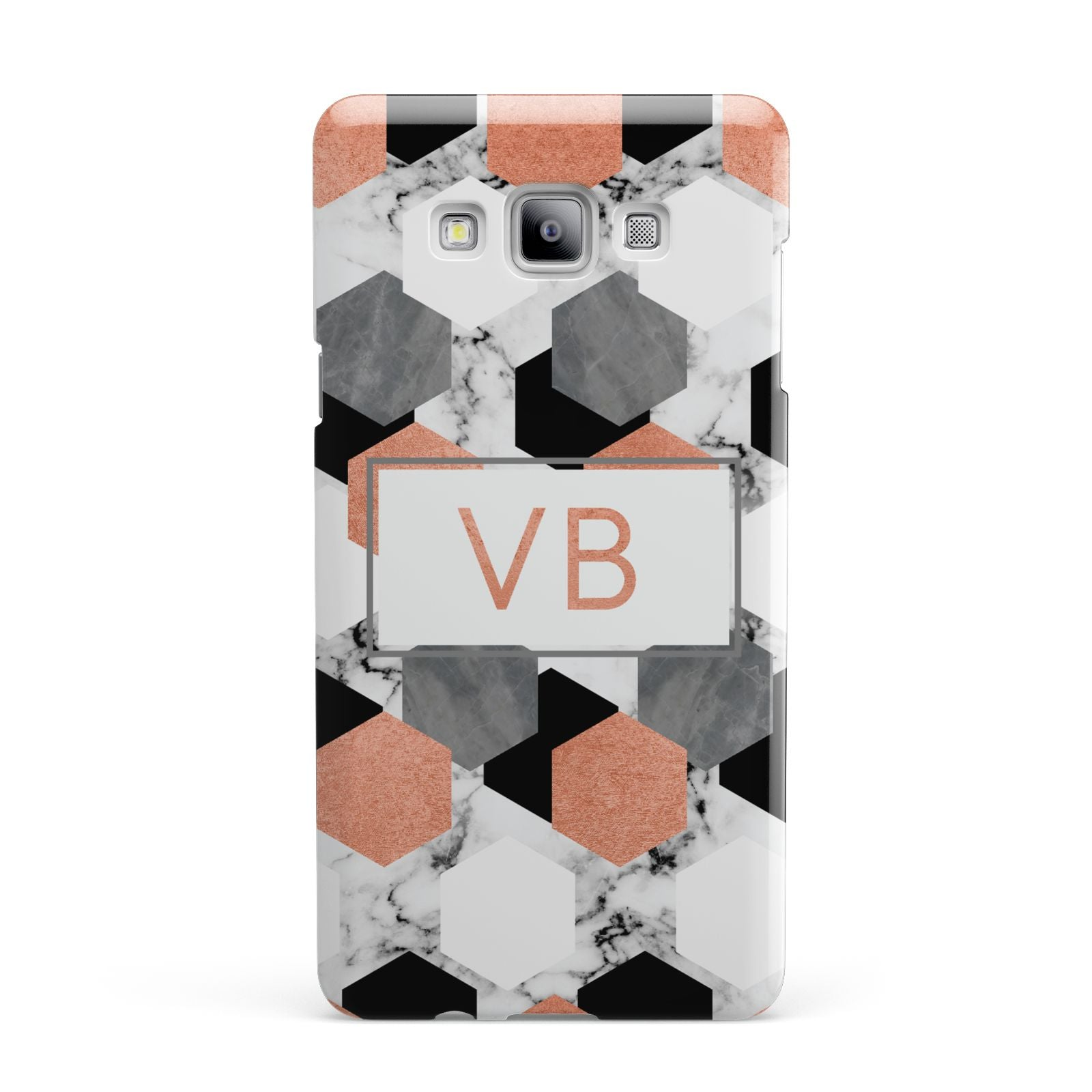 Personalised Initials Copper Marble Samsung Galaxy A7 2015 Case