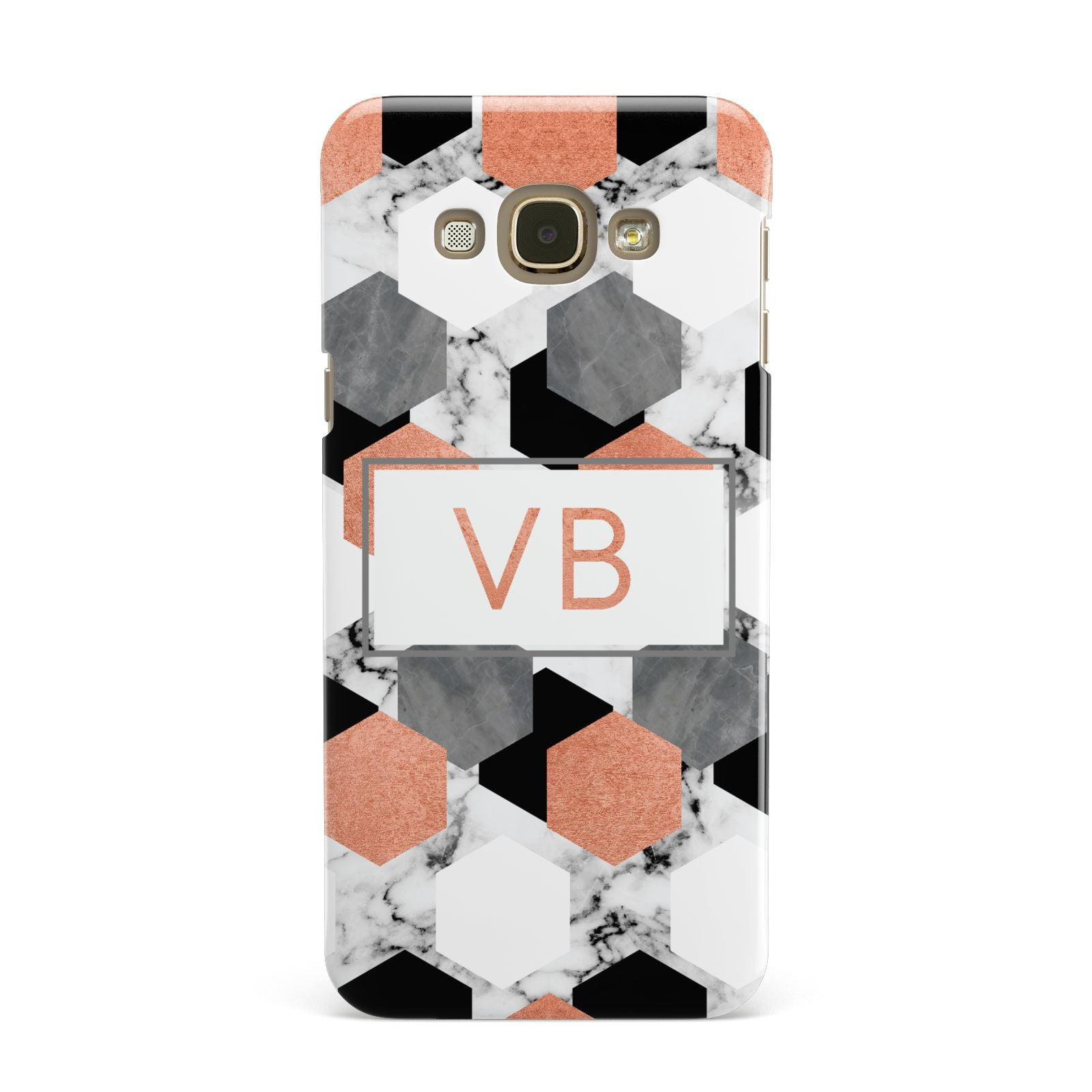 Personalised Initials Copper Marble Samsung Galaxy A8 Case